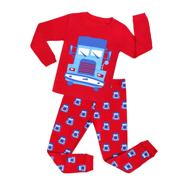 Big Truck Sleepwear Set - Kids Pajamas - Just Kidding Store