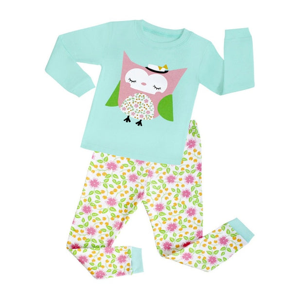 Owl Sleepwear Set - Kids Pajamas - Just Kidding Store
