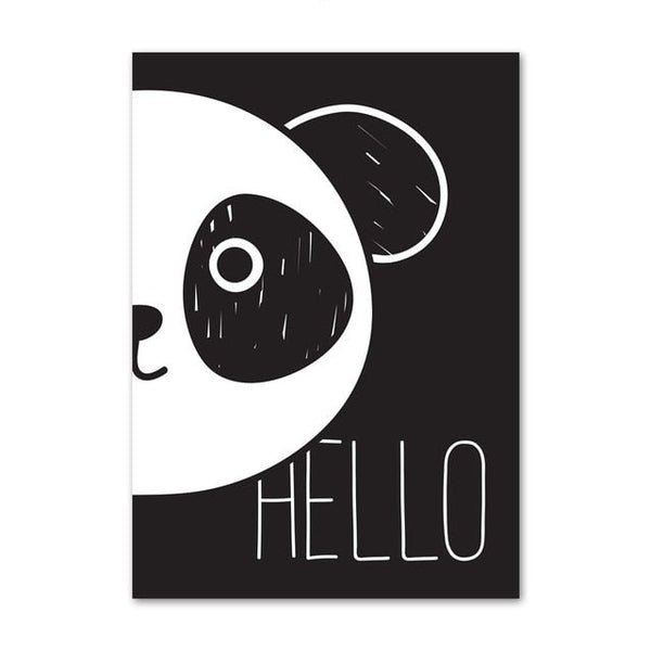 Scandinavian Kids Canvas Print - Panda Wall Art - Just Kidding Store