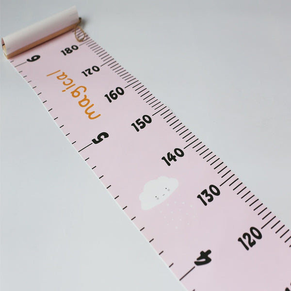 Pink Cloud Kids Growth Chart Height Measure Ruler - Just Kidding Store
