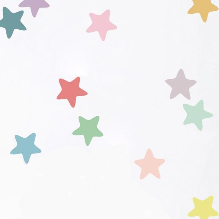 Colorful Pentagram Wall Stickers Pastel Stars Decal Just Kidding Store
