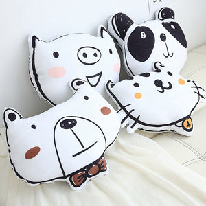 Statement Cushions Panda,Piggy,Puppy,Bear,Bear Pillow Just Kidding Store