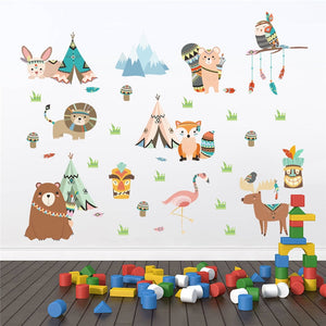 Indian Tribe Wall Stickers Kids Woodland Wall Decals Just Kidding Store