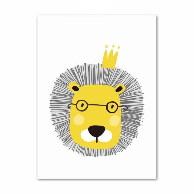 Lion Canvas Wall Art Kids Nordic Style Kids Posters Just Kidding Store