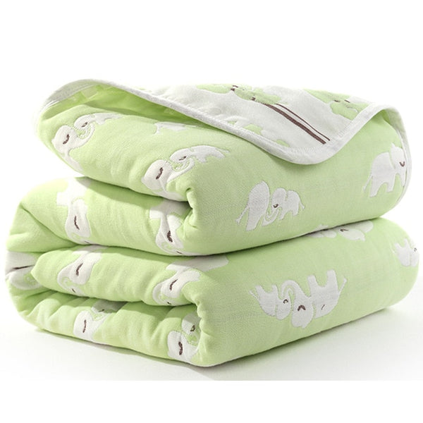 Six Layers Cotton Blanket - Chevron, Flamingo, Diamond, Cloud