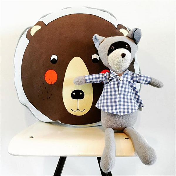 Round Soft Kids Cushion -  Lion Penguin Bear - Just Kidding Store