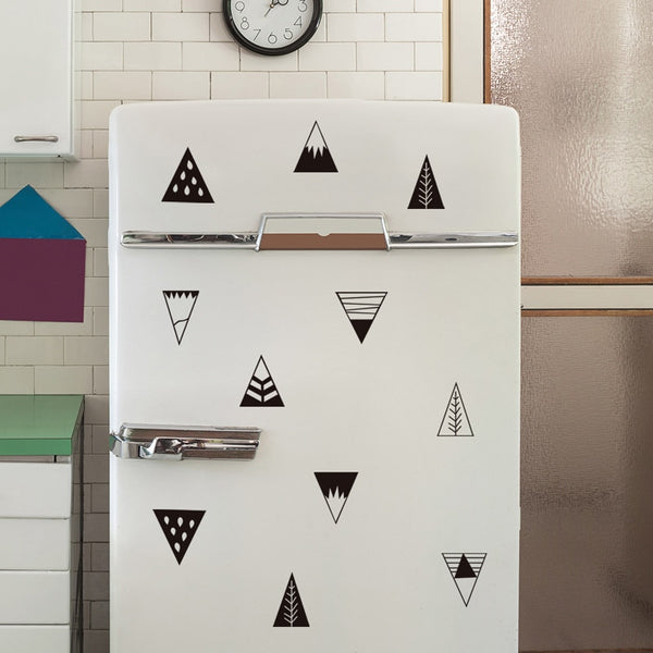 Mountain Wall Decals - Black Triangles Stickers - Just Kidding Store