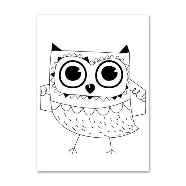 Nordic Canvas Wall Art To The Moon And Back, Alphabet, Owl - Just Kidding Store