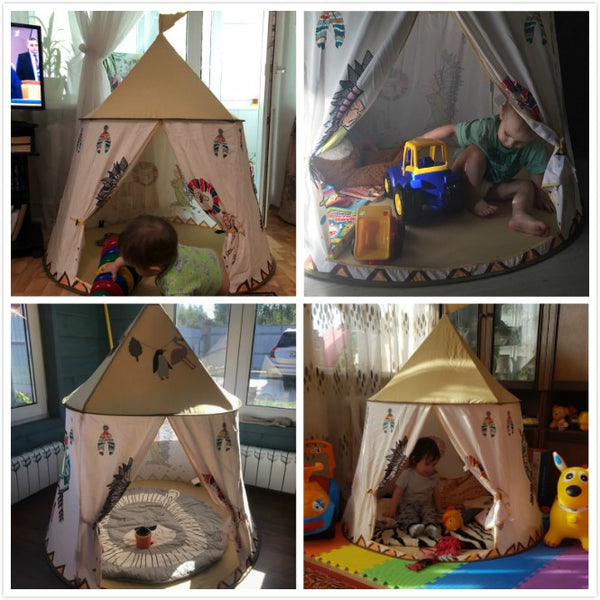 Indian Tent House - Portable Children Playhouse - Just Kidding Store