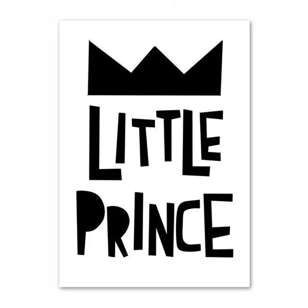 Little Prince - Inspiring Monochrome Canvas Paint - Just Kidding Store
