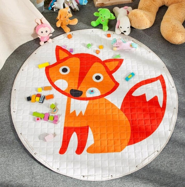 Fox Kids Activity Play Mat - Toy Storage Pouch - Just Kidding Store