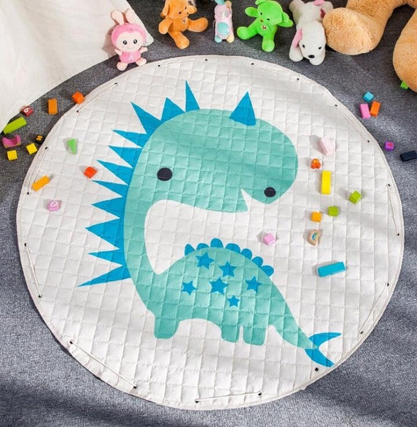 Dinosaur Kids Activity Play Mat - Toy Storage Pouch - Just Kidding Store