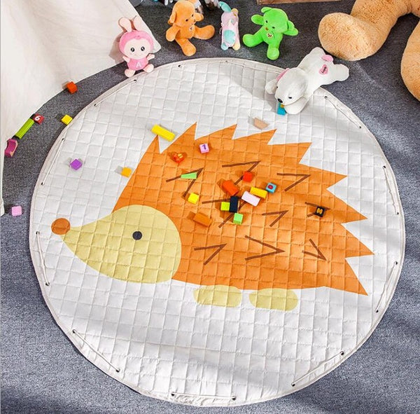 Hedgehog Kids Activity Play Mat - Toy Storage Pouch - Just Kidding Store