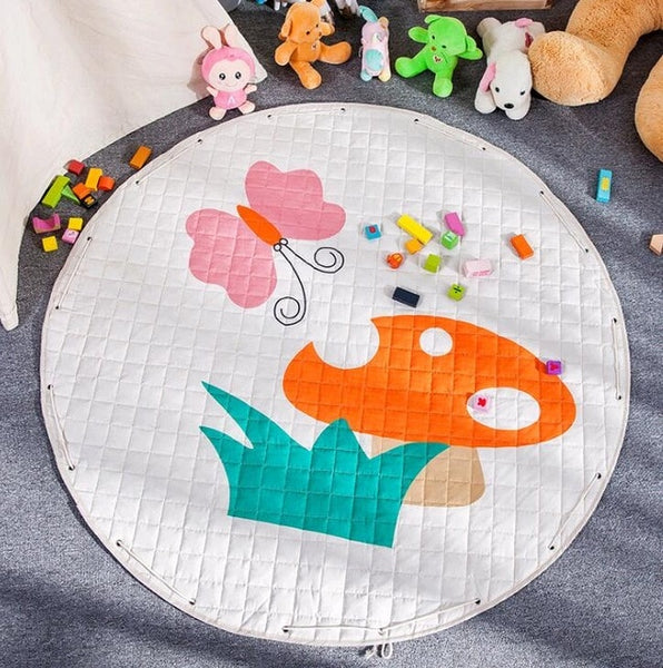 Spring Kids Activity Play Mat - Toy Storage Pouch - Just Kidding Store