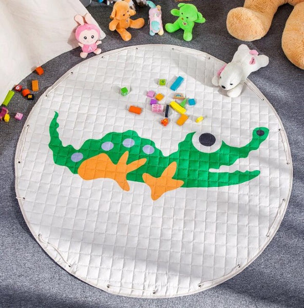 Crocodile Kids Activity Play Mat - Toy Storage Pouch - Just Kidding Store