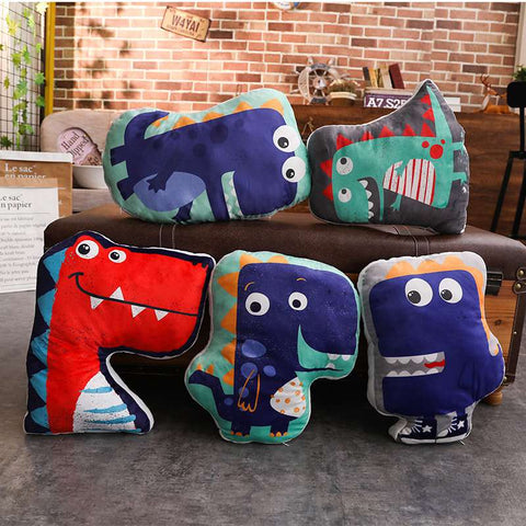 Dinosaur Pillows HD Digital Print Plush Cushions - Just Kidding Store