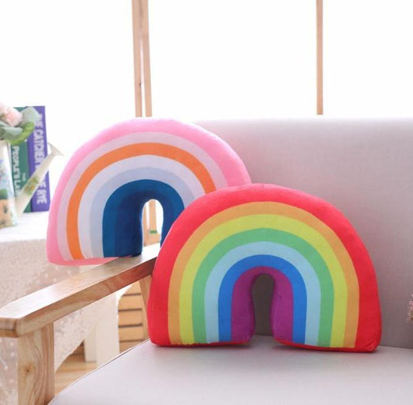 Rainbow Cushion - Nordic Style Pillow - Pink Red - Just Kidding Store