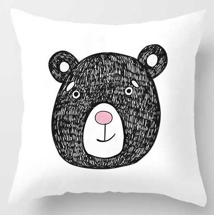 Cartoon Pillow Cat, Rabbit, Bear, Koala, Dog, Raccoon Just Kidding Store