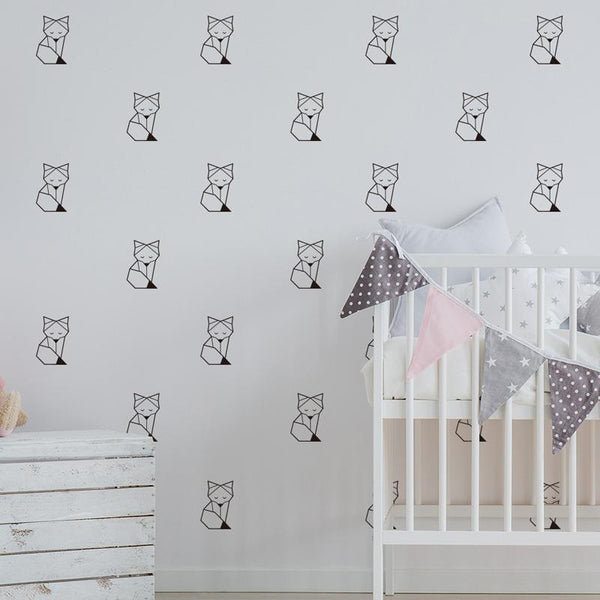 Sleepy Fox Woodland Wall Stickers Kids Wall Decal - Just Kidding Store