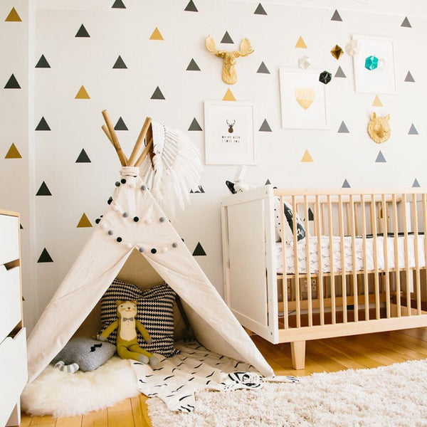 Triangles Wall Stickers Kids Wall Decal - Just Kidding Store