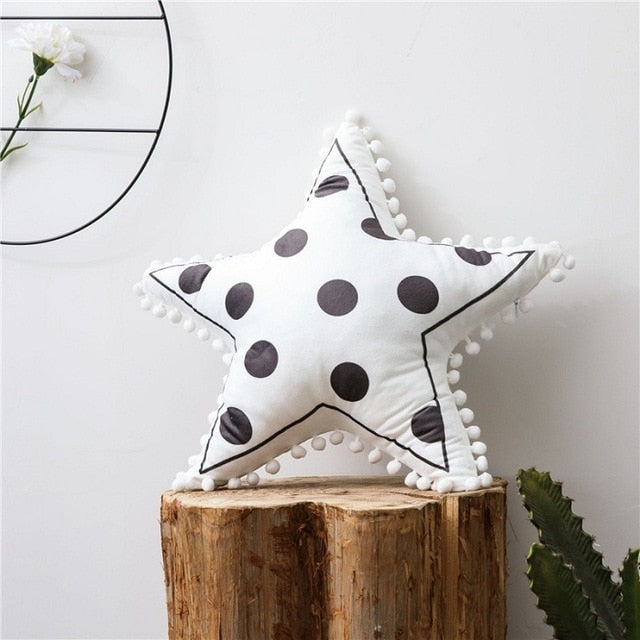 Star Pom Pom Cushion Nordic Style Pillows - Just Kidding Store