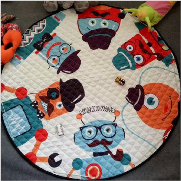 Activity Play Mat - Kids Toy Storage Bag - Robots - Just Kidding Store