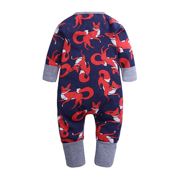 Red Fox Romper Baby Kids Fashion - Just Kidding Store