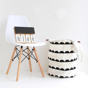 Monochrome Large Toy Storage Hamper Bag Laundry - Just Kidding Store