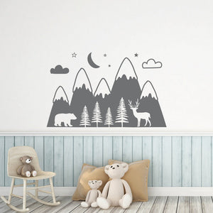Deep In The Forest Wall Decal Woodland Wall Stickers - Just Kidding Store