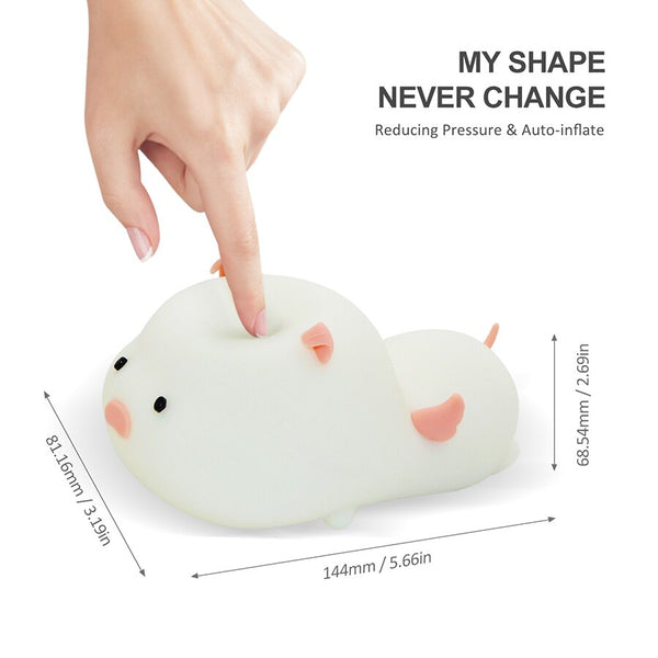 Piggy Night Light - Touch Sensor Color Switching Lamp