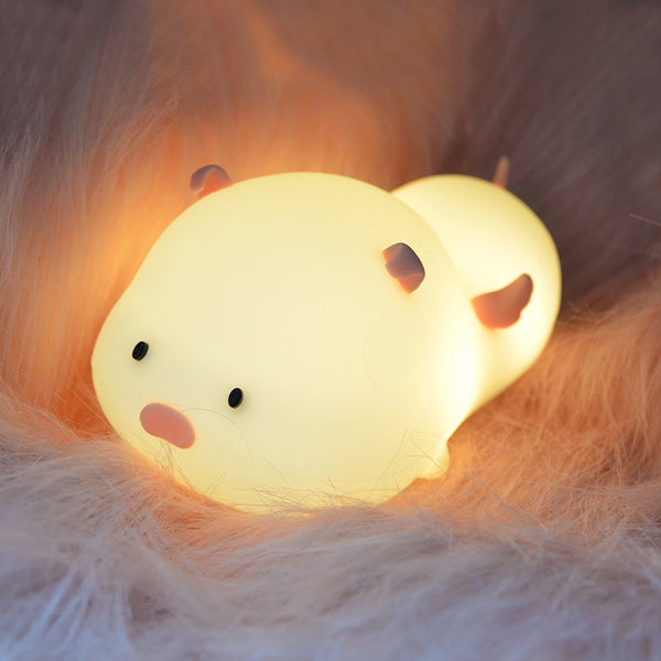 Piggy Night Light - Touch Sensor Color Switching Lamp - Just Kidding Store