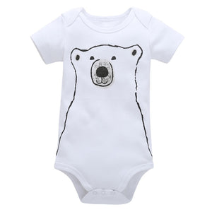 White Bear Baby Summer Romper - Just Kidding Store
