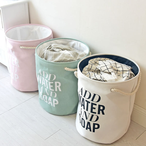 Add Water And Soap Kids Big Laundry Hamper Basket - Just Kidding Store