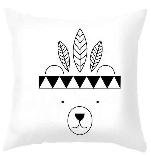 Tribal Bear Nordic Cushion Covers - Just Kidding Store