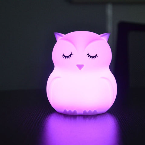 Owl Night Light - Kids Tap Control Color Changing Lamp - Just Kidding Store
