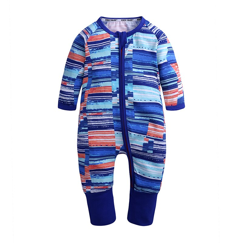Blue Abstract  Baby Fashion Trendy Romper - Just Kidding Store