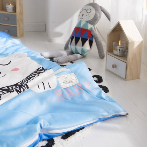 Kids Sleeping Bag With Pillow - Polar Bear Sleeping Envelope Just Kidding Store