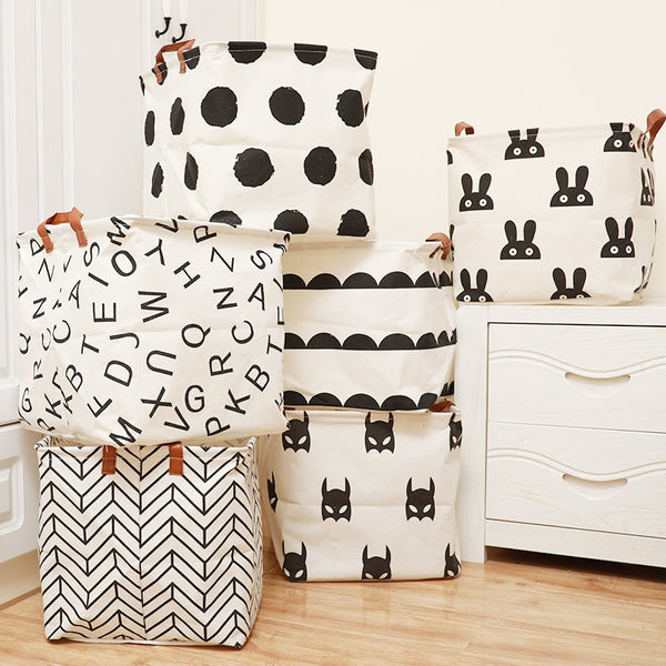 Cube Canvas Basket -  Kids Toy Storage Box - Just Kidding Store