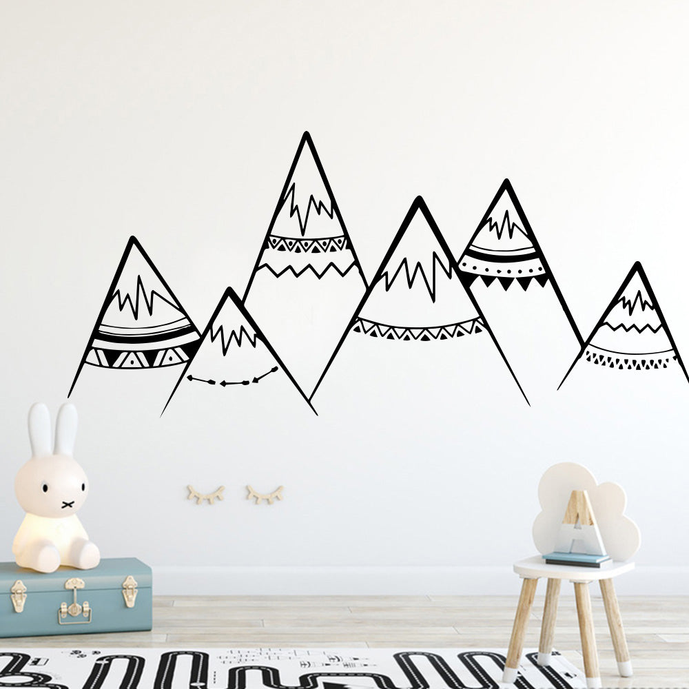 Tribal Mountains Wall Decal Kids Wall Stickers - Just Kidding Store