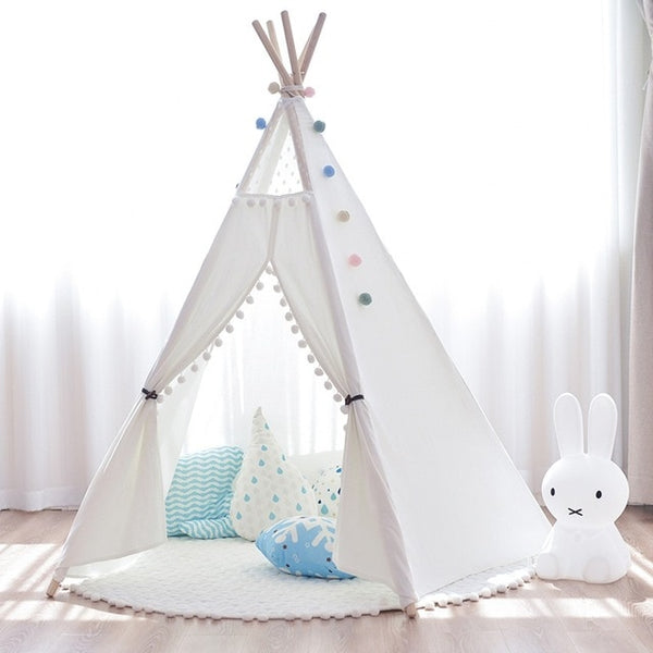 Pom Pom Kids Teepee - 5 Poles Play Tent - Just Kidding Store