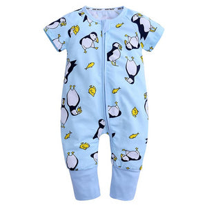 Penguin Summer Baby Kids Trendy Fashion Romper - Just Kidding Store
