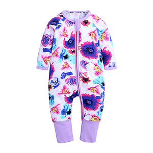 Spring Flowers Romper - Baby Kids Summer Romper - Just Kidding Store