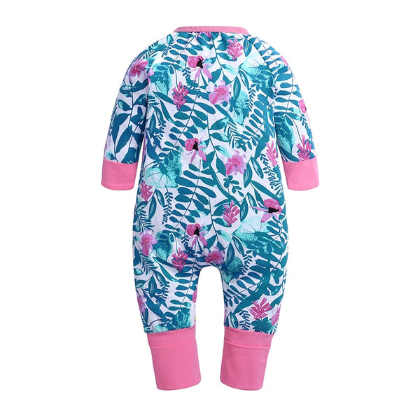 Pink Flowers Baby Toddler Kids Romper - Just Kidding Store