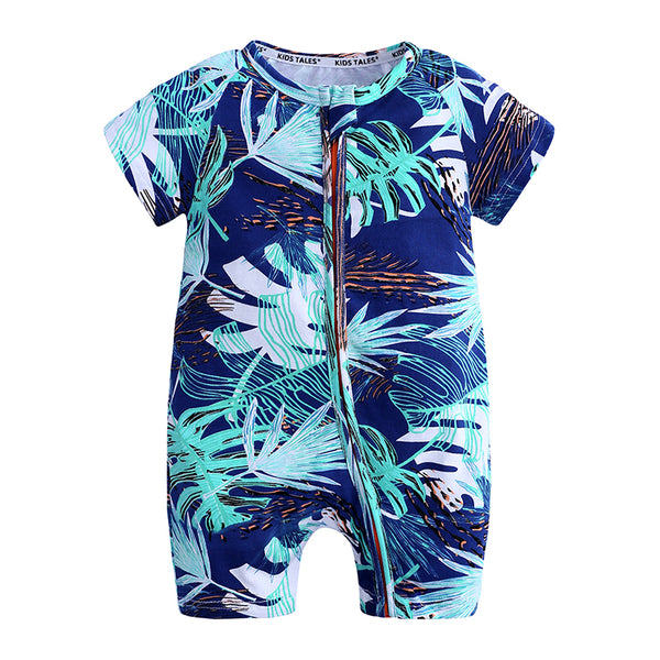 Big Leaves Baby Toddler Kids Summer Romper - Just KIdding Store
