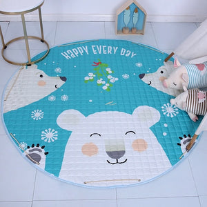 Activity Play Mat - Baby Kids Toy Storage Bag - Polar Bears - Just Kidding Store