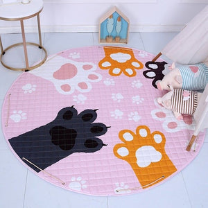 Activity Play Mat Kids Toy Storage Bag Paw Print - Just Kidding Store