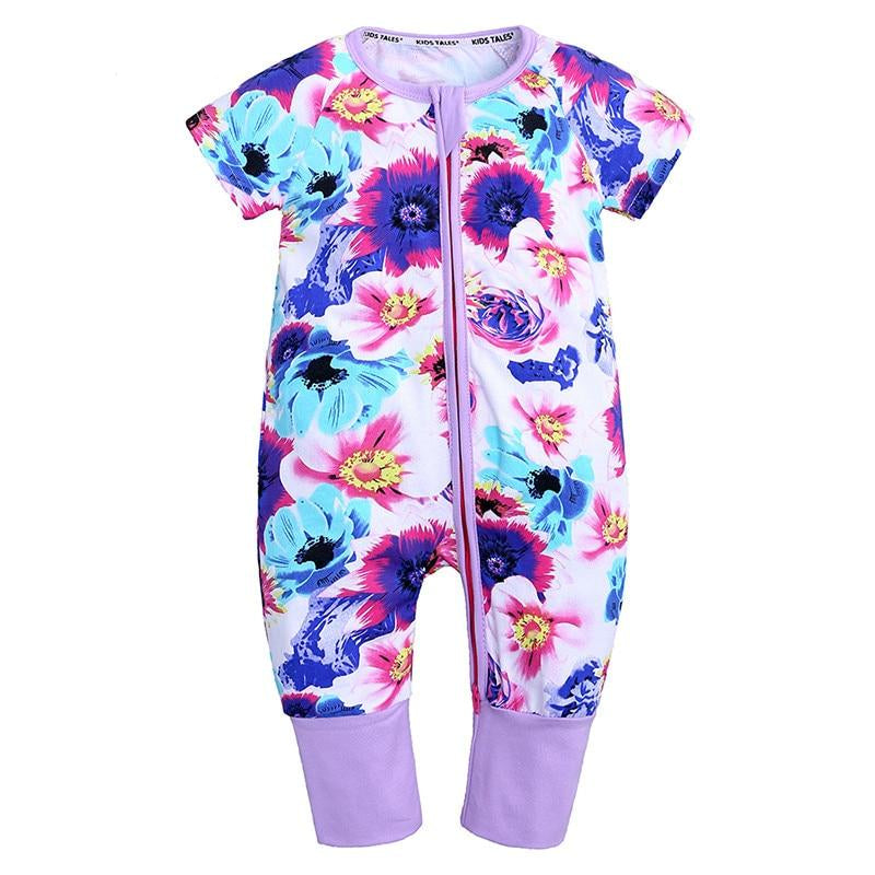 Spring Flowers Summer Romper Baby Kids Fashion - Just Kidding Store