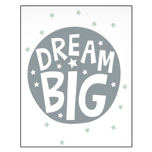 Nordic Style Kids Canvas Posters - Astronaut, Space Rocket, Dream Big - Just Kidding Store
