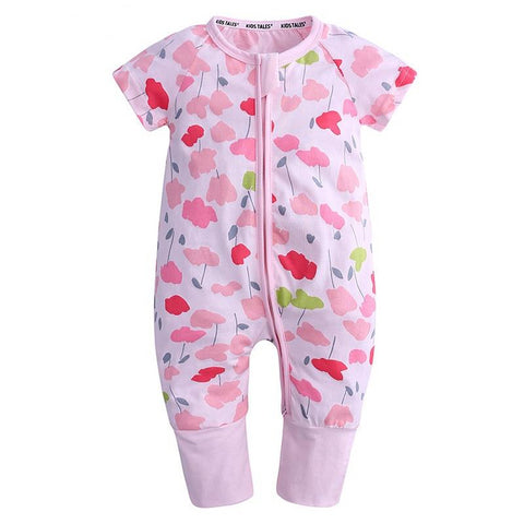 Poppy Flowers Baby Toddler Fashion Trendy Summer Romper Just Kidding Store