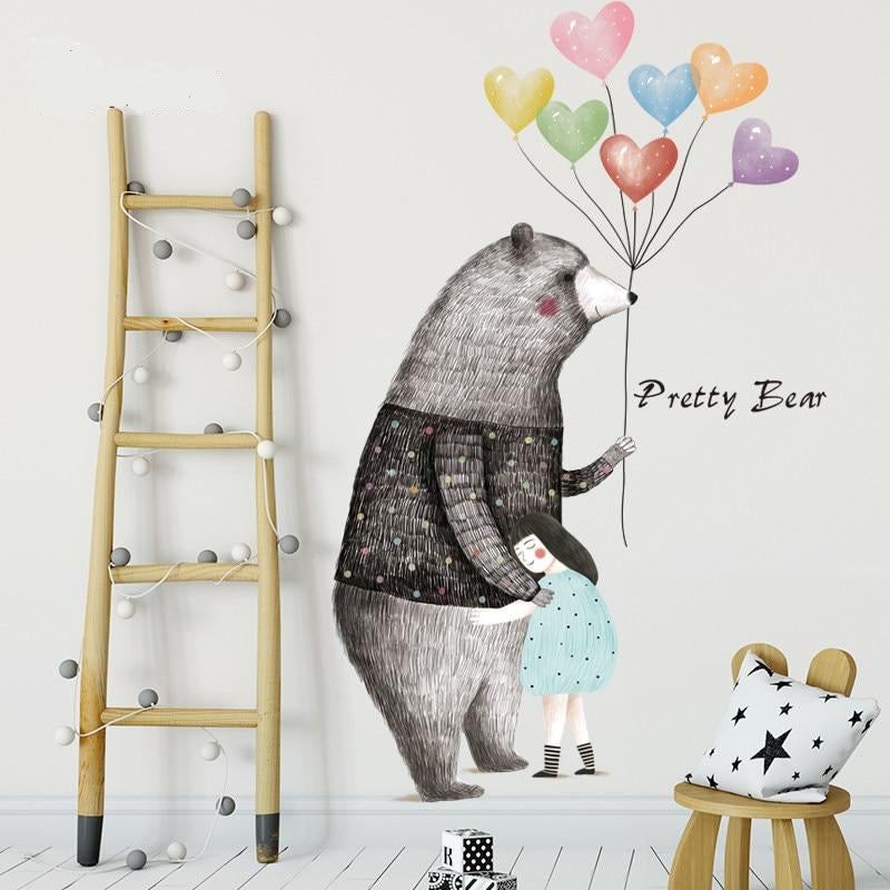 Pretty Bear Wall Sticker Big Bear Kids Sticker - Just Kidding Store